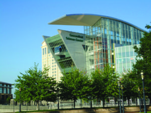 Photo of exterior of Connecticut Science Center